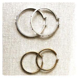 2 sets of Hoop Earrings